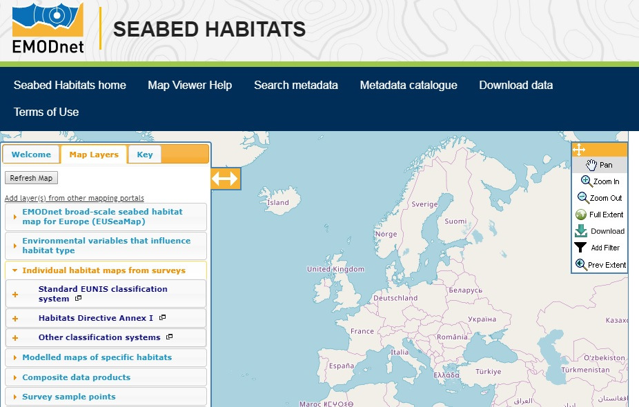 ategories of maps available for download from the EBSH map viewer.